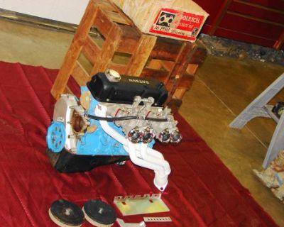 Datsun B110 A12 1200cc Engine In Crate W/ Sunny Mikuni Dual Carburetors & Header