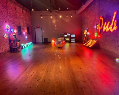 Spacious Studio Space Filled with Neon, Austell, GA