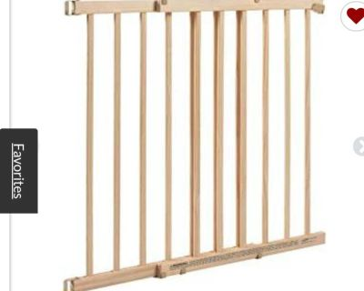 Evenflo, Top of Stairs, Extra Tall Gate, Tan Wood 1 Count (Pack of 1)