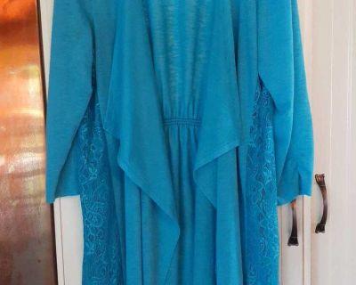 Tr s beau manteau l ger turquoise/ tr s design
