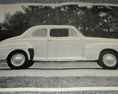 "Vtg 1940's Ford Automobile Large 12"" x 18"" Black & White Photograph"