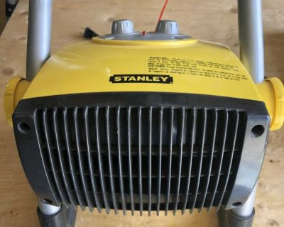 Stanley electric heater with radio