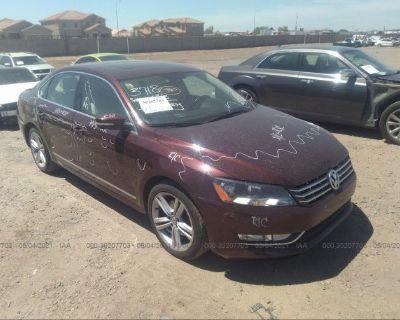 Salvage Burgundy 2013 Volkswagen Passat