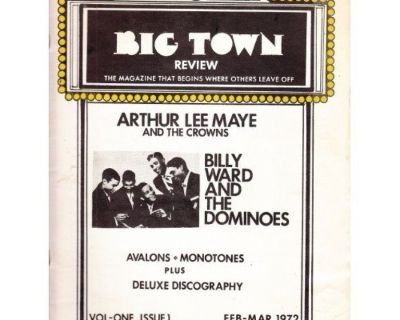 BIG TOWN REVIEW ~ Magazine !st Issue #1 Dominoes !
