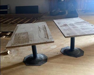 Pub tables - Metal Base, Wood top