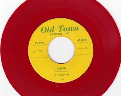5 CROWNS ~ Again*RARE RED WAX*M-45 !