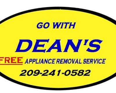 What are youDEANS FREE APPLIANCE HAUL AWAY SERVICE