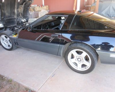 """NICE SET OF SILVER CORVETTE 17""""x 8.5"""" WHEELS AND OLD TIRES[they do hold air]"""