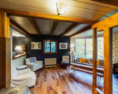 Cozy, dog-friendly cottage near a creek w/ a furnished deck & forest views - Mad River Valley