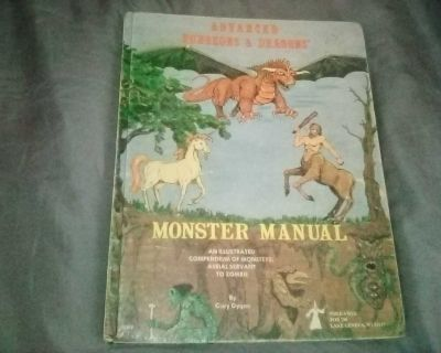 Advanced Dungeons and Dragons Monster Manual 3rd Printing 1978 CHEAP!!!