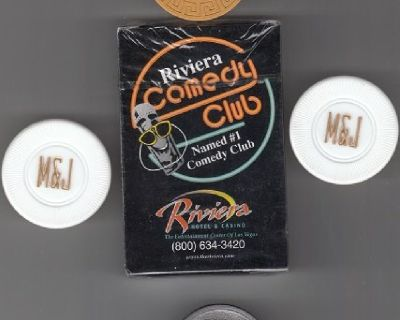 RIVIERA DECK OF CARDS & KOOL CASINO CHIPS SET !