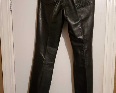 Women's leather pants size 10
