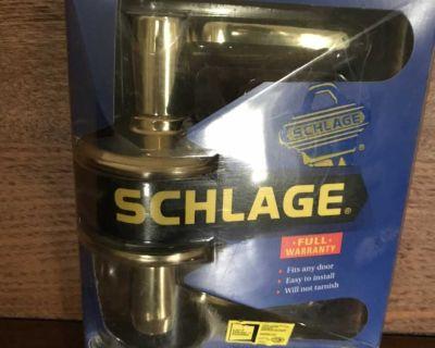 Never used brass bed & bath left door handle