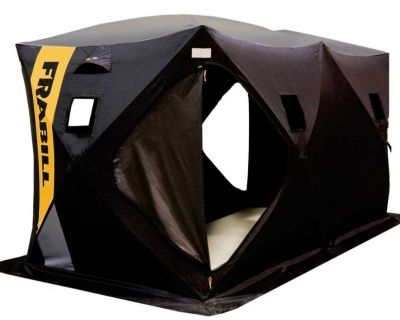 Frabill ice fishing tent new condition used twice ice auger manual or drill power asking 420