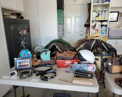 Yard Sale today and tomorrow. Horse supplies...saddles, blankets, boots, buckets...