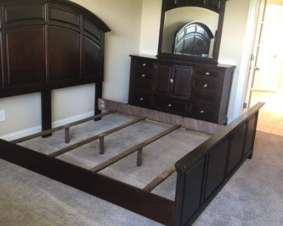 FS King Size bedroom set with TV stand and Dresser