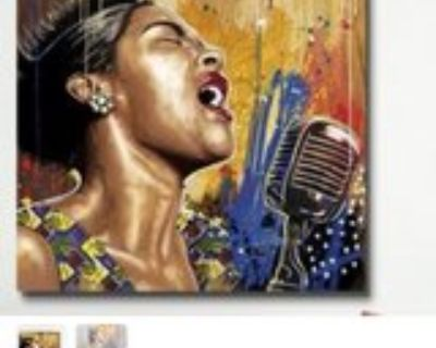 Lady singing Song of Life Painting