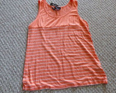 NEW Large Charlie Page peach coloured tank top.