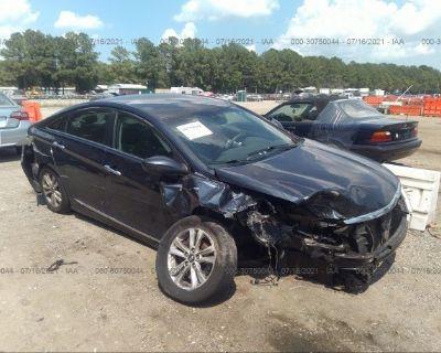 Salvage Blue 2013 Hyundai Sonata