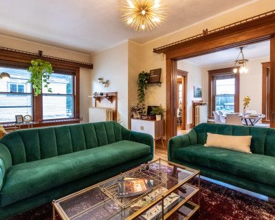 Mid Century Eclectic Apartment with Floor to Ceiling Natural Light, Buffalo, NY
