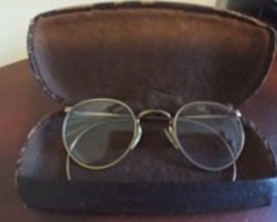 Vintage Mid Century 12K Gold Filled Wire Rim Spectacles/ Glasses