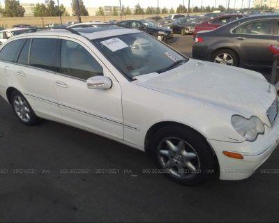 Salvage White 2003 Mercedes-benz C-class
