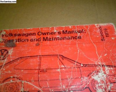 1975 Scirocco Owner's manual
