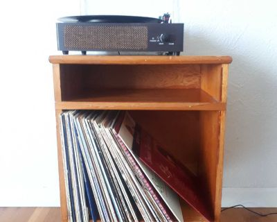 MCM Record stand/storage side table