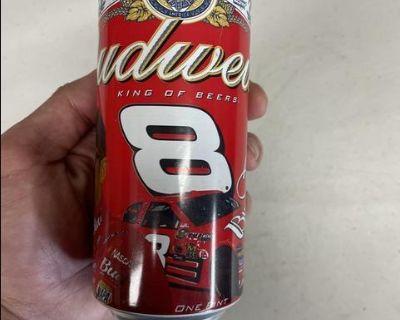 NASCAR DALE EARNHARDT JR BUDWEISER ALUMINUM BEER CAN SEALED