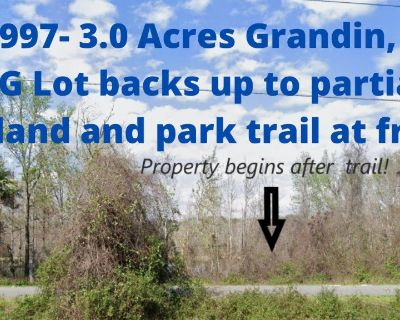 $8,997- 3.0 Acres  Grandin, FL   AG Zoned lot with wetlands at the back for wildlife!