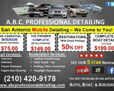 COMPLETE MOBILE DETAILING STARTING AT $75.00
