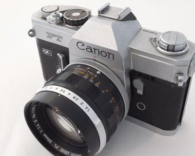 Canon FT and lenses, breechlock