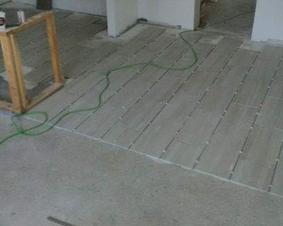 Instalation of tile