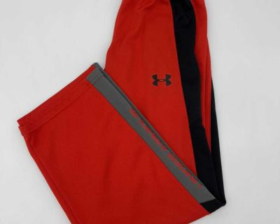 Under Armour Red Sports Active Gym Pants- Nice Condition - Size Youth Medium