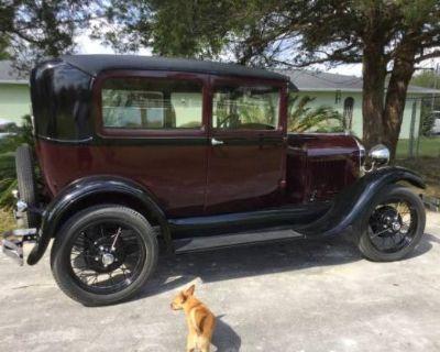 1929 Ford Model A All-Steel Original Restored Sedan Stock