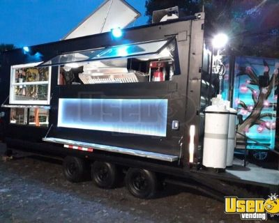 2018 - 8.5' x 25' Shipping Container Food Trailer w/ Custom Order Kitchen