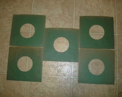 45RPM GREEN COLOR HEAVY DUTY RECORD SLEEVES  !