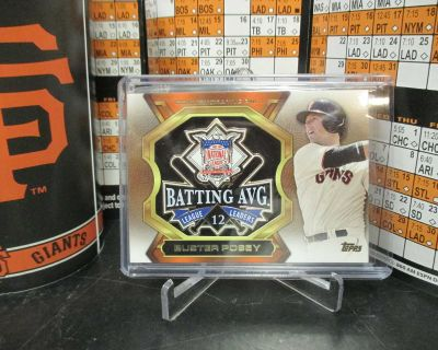 SAN FRANCISCO GIANTS CATCHER BUSTER POSEY PIN CARD DISPLAY!