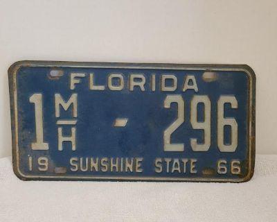 Florida 1966 license plate