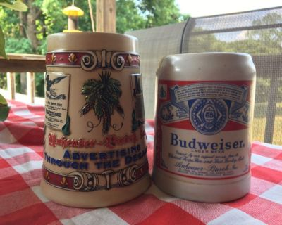 2 Budweiser mugs sold together