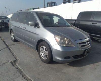 Salvage Gray 2007 Honda Odyssey