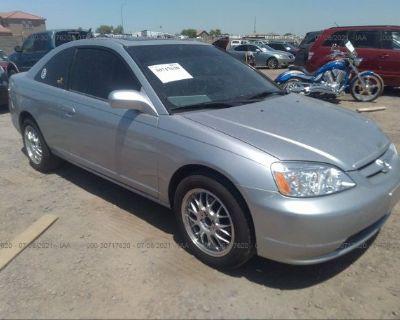 Salvage Silver 2001 Honda Civic