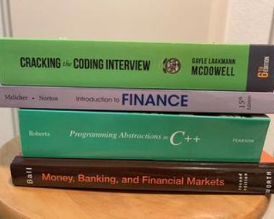 CS and Finance textbooks for sale