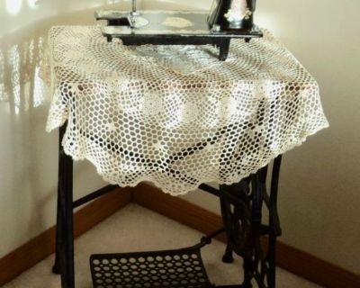 Victorian Sewing Table With A Nacar Sewing Machine