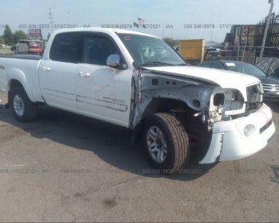Salvage White 2005 Toyota Tundra