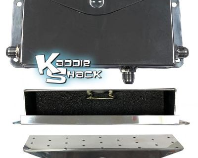 Aluminum Crankcase Breather Box -8 AN, TIG Welded