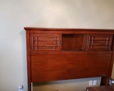 Queen size bookcase bed and boxspring