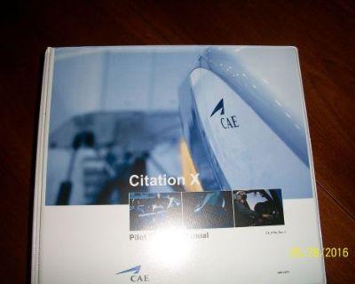Cae Cessna Citation X Pilot Training Manual