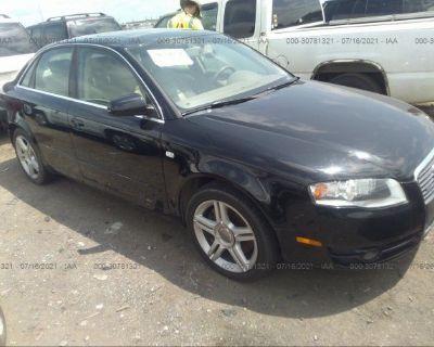 Salvage Black 2007 Audi A4