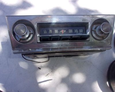1965 – 1969 Corvair Cars OEM AM Radio with Knobs, Face Plate and Bezel